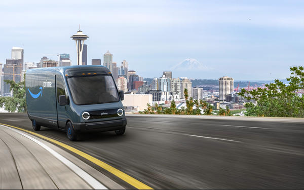 Amazon announced the order of 100,000 electric delivery vehicles from Rivian, the largest order ever of electric delivery vehicles, with vans starting to deliver packages to customers in 2021.