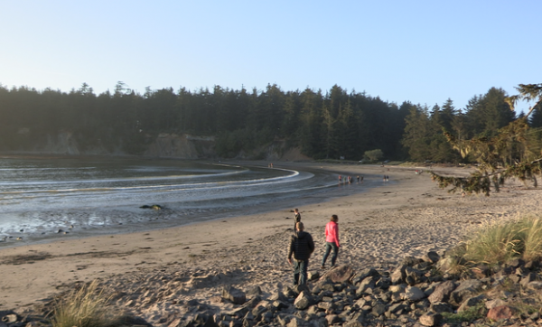 <p>The beach at Sunset Bay State Park near Coos Bay is popular during the summer.</p>