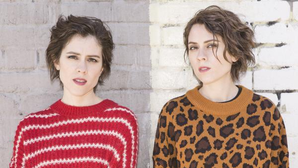 Identical twins Sara (left) and Tegan Quin began making music together as teenagers.