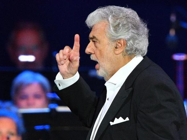 Opera singer Plácido Domingo performing in Szeged, Hungary, on Aug. 28.