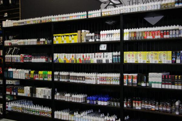 The Vapor Lair in Houston sells an extensive assortment of vape juice.