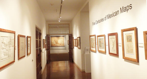 "The ""Five Centuries of Mexican Maps"" exhibit at the Museum of the Big Bend at Sul Ross State University in Alpine."