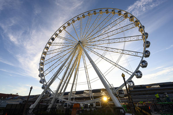 The St. Louis Wheel at Union Station stands 200 feet tall. The new attraction in downtown St. Louis will be open year-round.