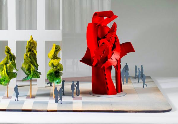 A model used for a sculpture Albert Paley will build for a Toronto location