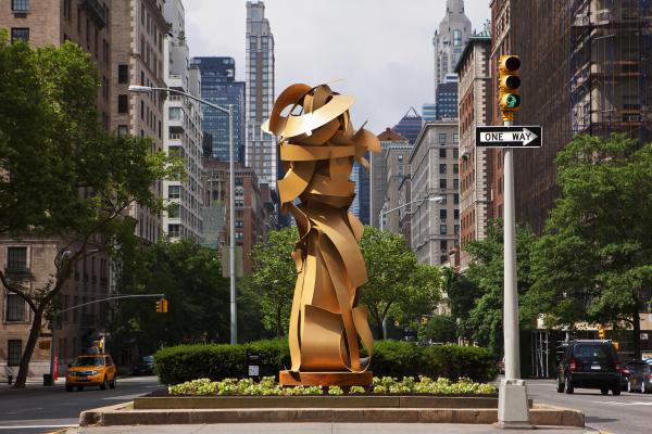One of the sculptures that was part of Paley's project for Park Avenue in NYC
