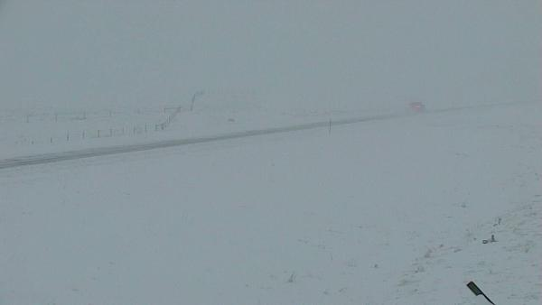 Near Browning, MT as seen from a Montana Department of Transportation camera on the morning of Sept. 28.