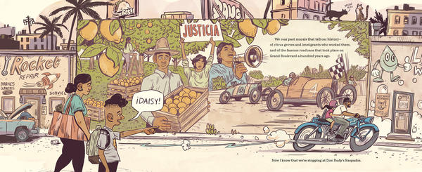 <em>My Papi Has a Motorcycle</em>, by Isabel Quintero and Zeke Peña, pays tribute to the rapidly-changing city of Corona, Calif., where Quintero grew up.