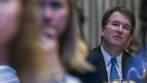 Supreme Court Justice Brett Kavanaugh is facing a new allegation of sexual misconduct, leading some Democrats to call for his impeachment. Above, he listens to a discussion at a Washington event.