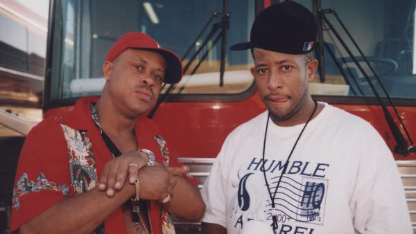 Gang Starr — left, Guru, with DJ Premier — photographed in July 1998.