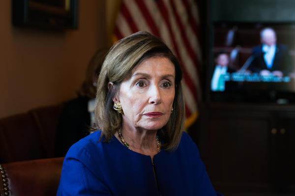 House Speaker Nancy Pelosi suggested a new law is needed to be able to indict a sitting president for potential lawbreaking while in office.