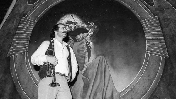 Robert Hunter, photographed at the Grateful Dead's rehearsal studio, Club Front, in Nov. 1977 in San Rafael, California.
