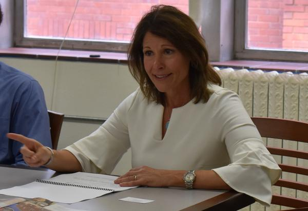 Congresswomen Cheri Bustos during a visit to the East Bluff Community Center in Peoria.