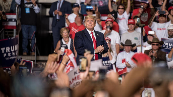 President Trump at his Keep America Great rally last month in Rio Rancho, N.M.