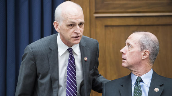 Reps. Adam Smith, D-Wash. (left) and Mac Thornberry, R-Texas, are seen before a House Armed Services Committee hearing in March.