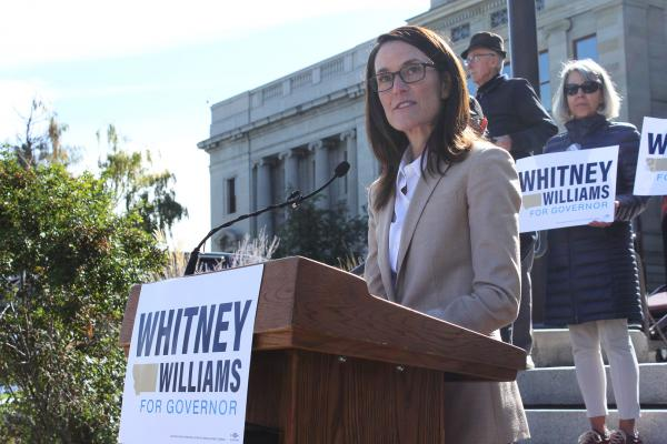 Missoula Businesswomen Whitney Williams announced Thursday, October 3 she is running for governor in 2020 as a Democrat. Williams is the daughter of Pat Williams, who represented Montana in U.S. Congress for nine terms.