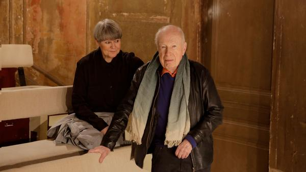 Peter Brook and Marie-Hélène Estienne, his co-director and co-writer on the new show <em>Why?</em>