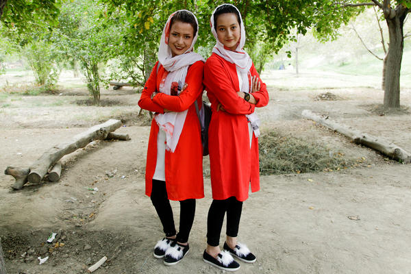 Farahnaz Mohammadi (left) and her cousin Fatima Almi both worry that the gains made by Afghan women since 2001 will be in jeopardy after a U.S.-Taliban deal is signed.