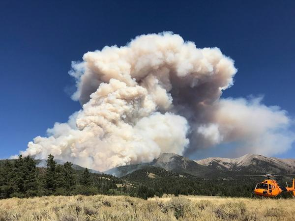 The Decker Fire is burning roughly 9 miles south of Salida.