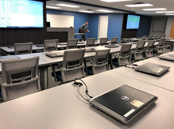 The cyber range at the University of Akron is one of two facilities in Ohio set up to train the Ohio National Guard's new civilian cyber reserve corps.