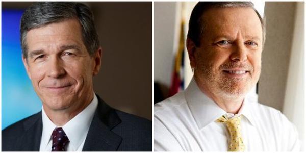 Gov. Roy Cooper (left) and Sen. Phil Berger.
