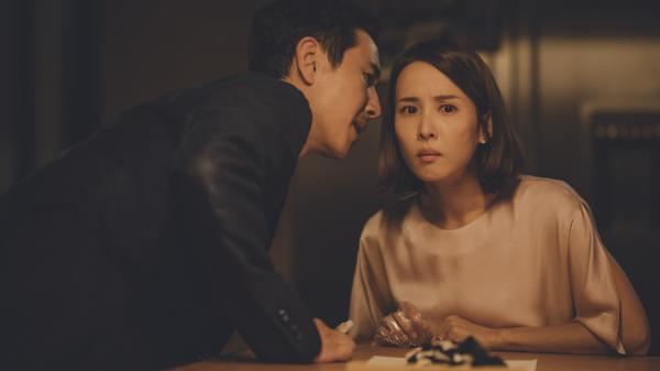 Sun Kyun-lee and Cho Yeo-jeong play Mr. and Mrs. Park, a wealthy couple whose hired help isn't quite what it seems, in Bong Joon-ho's thriller <em>Parasite</em>.