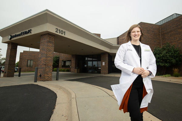 Sara Ritterlings Patry, one of University of Kansas School of Medicine-Salina's first graduates, practices internal medicine in Hutchinson, Kansas.