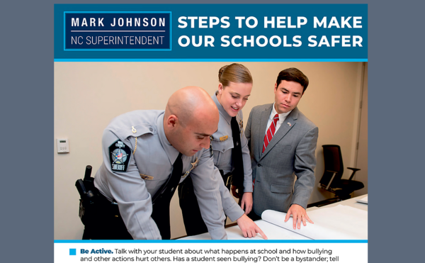 A poster sent by State Superintendent Mark Johnson to schools last year.
