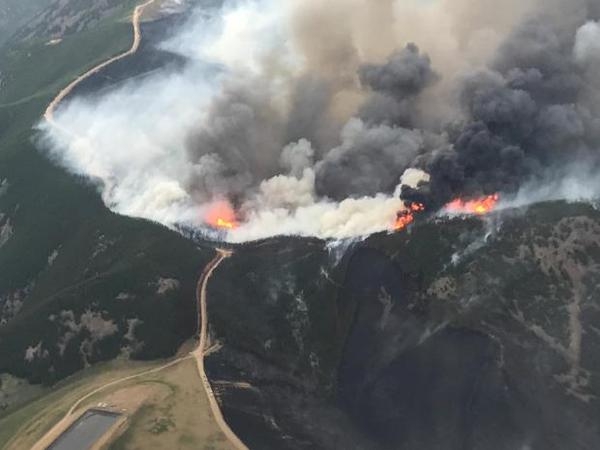 July Fire as seen from the air in July 2017