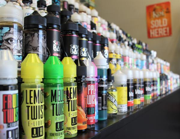 Vape shops often have scores, or even hundreds of e-liquid flavors. This shop in Topeka doesn't sell to people under age 21.