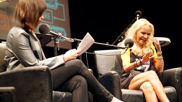 Kristin Chenoweth plays a game on <em>Ask Me Another</em> at Cullen Performance Hall at the University of Houston, in Houston, Texas.
