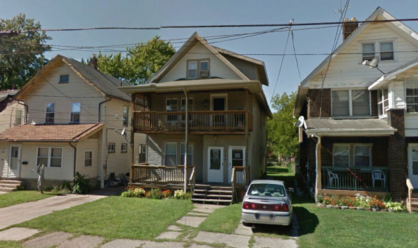 A Google Earth screen grab shows the house at 1248 West 11th Street in Erie, where 5 children were killed in a fire.