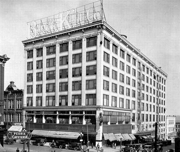 The Block & Kuhl building as it looked in times past.