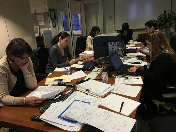 Marist Poll Staff Analyzing Election Night Data