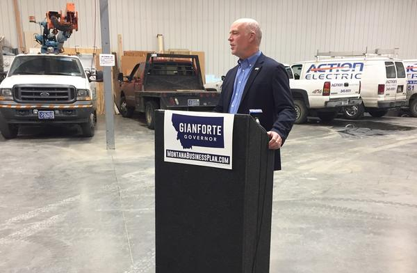 Gianforte at a campaign event during his run for governor on October 11 2019.