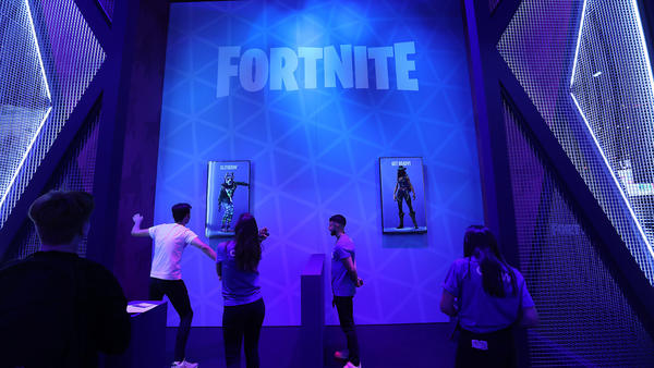 A Fortnite fan performs a dance at the Gamescom gaming industry event in August.
