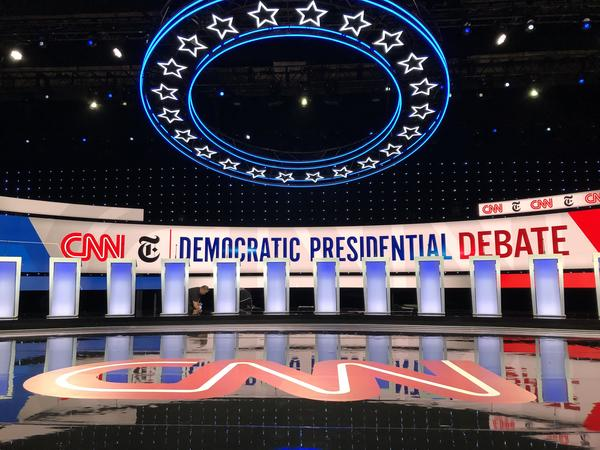 2020 Democratic Presidential Debate held inside the Rike Center at Otterbein University. Democrats say suburbs like Westerville are starting to swing blue.