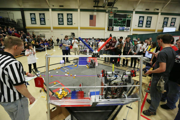 School robotics competitions like this one at Missouri S&T in 2016 can help students develop an interest in STEM fields.