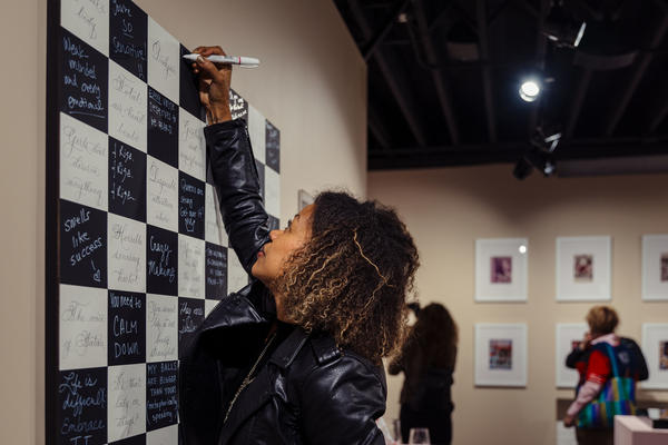 """Jennifer Shahade and Daniel Meirom created the """"Not Particularly Beautiful"""" chessboard to expose the many insults women chess players have endured over time."""