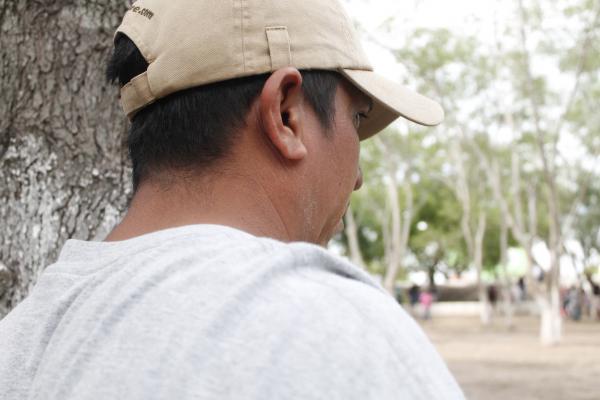 Delmer, an asylum seeker from Honduras.