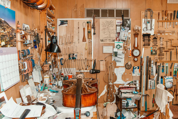 BEST STILL LIFE - The workshop of Valeriy Parfenov, fine strings craftsman and owner of the First String Violin Shop in Overland, MO. Valeriy, affectionately known by many as Larry, opened the First String Violin Shop in 1993 after moving to St. Louis fro