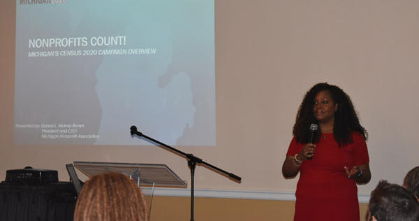 Donna Murray-Brown, president and CEO of the Michigan Nonprofit Association, spoke to members of the Oklahoma Center for Nonprofits on Friday about ways to increase participation in the 2020 census.