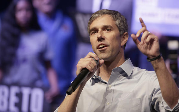 Democratic presidential candidate, former Rep. Beto O'Rourke (D-TX) speaks during a campaign rally on in Grand Prairie, Texas. O'Rourkes Rally Against Fear was held to counter President Trump's campaign rally today in Texas.