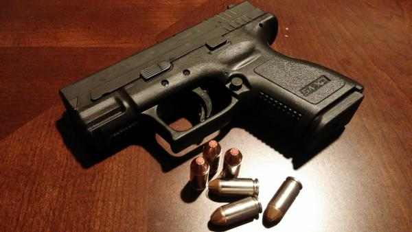 Pistol stock photo.