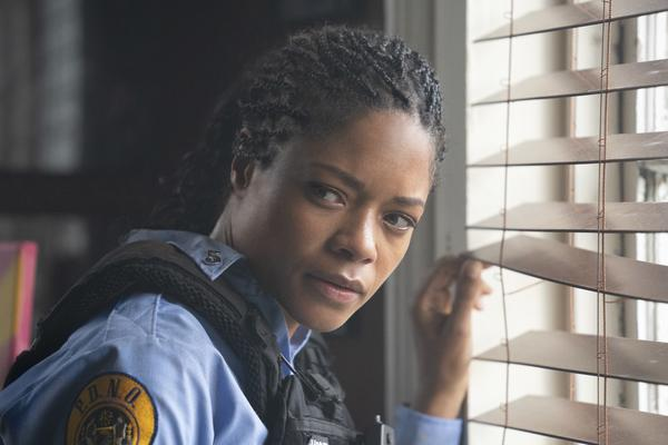 Naomie Harris stars in the action thriller <em>Black and Blue </em>as a police officer who captures a murder committed by corrupt cops on her body camera.