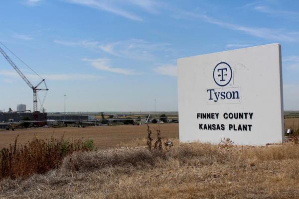 The Tyson plant in Holcomb, Kansas, is running at limited capacity after the Aug. 9 fire.