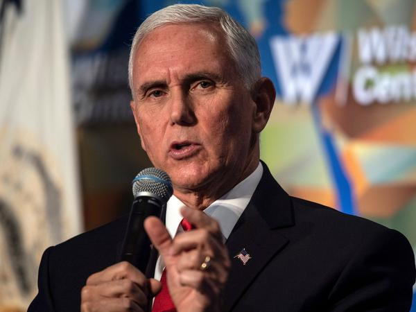 Vice President Mike Pence speaks about U.S.-China relations in Washington. Nicholas Kamm/AFP/via Getty Images