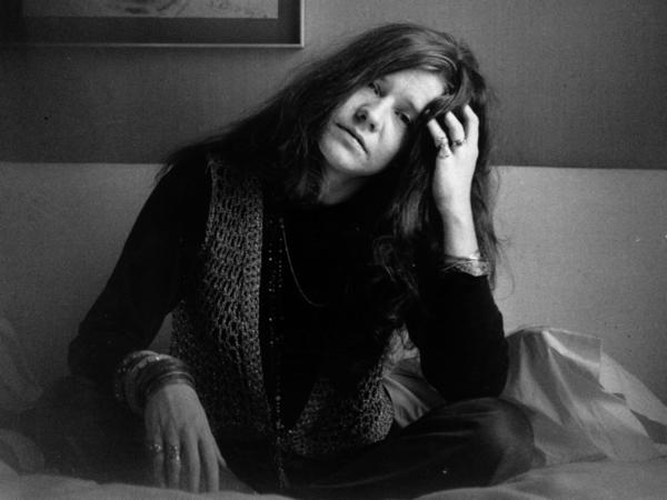 Biographer Holly George-Warren describes rock star Janis Joplin (shown here in 1969) as an introspective person who didn't always like her own thoughts.