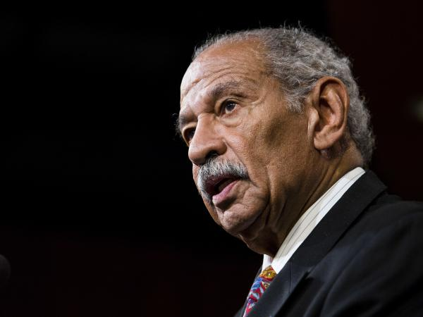 Former Congressman John Conyers, a Democrat who represented the Detroit area for more than 50 years and co-founded the Congressional Black Caucus, died Sunday. Conyers is seen here in 2014.