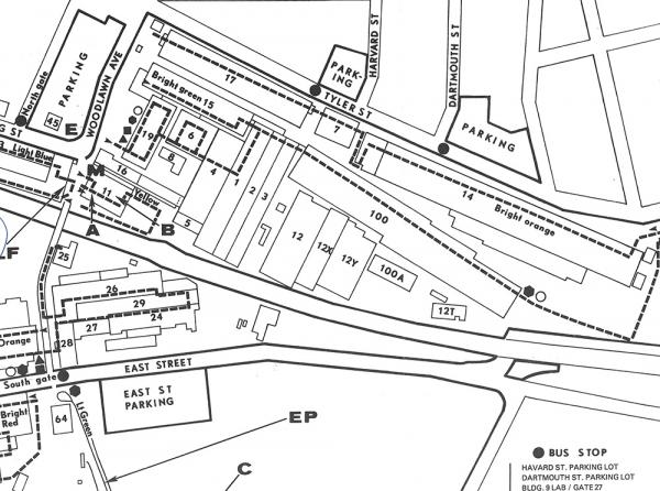 A map depicts a portion of the GE plant in 1978.