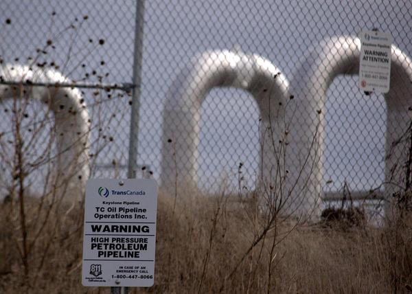 Keystone Pipeline pumping station in Nebraska.